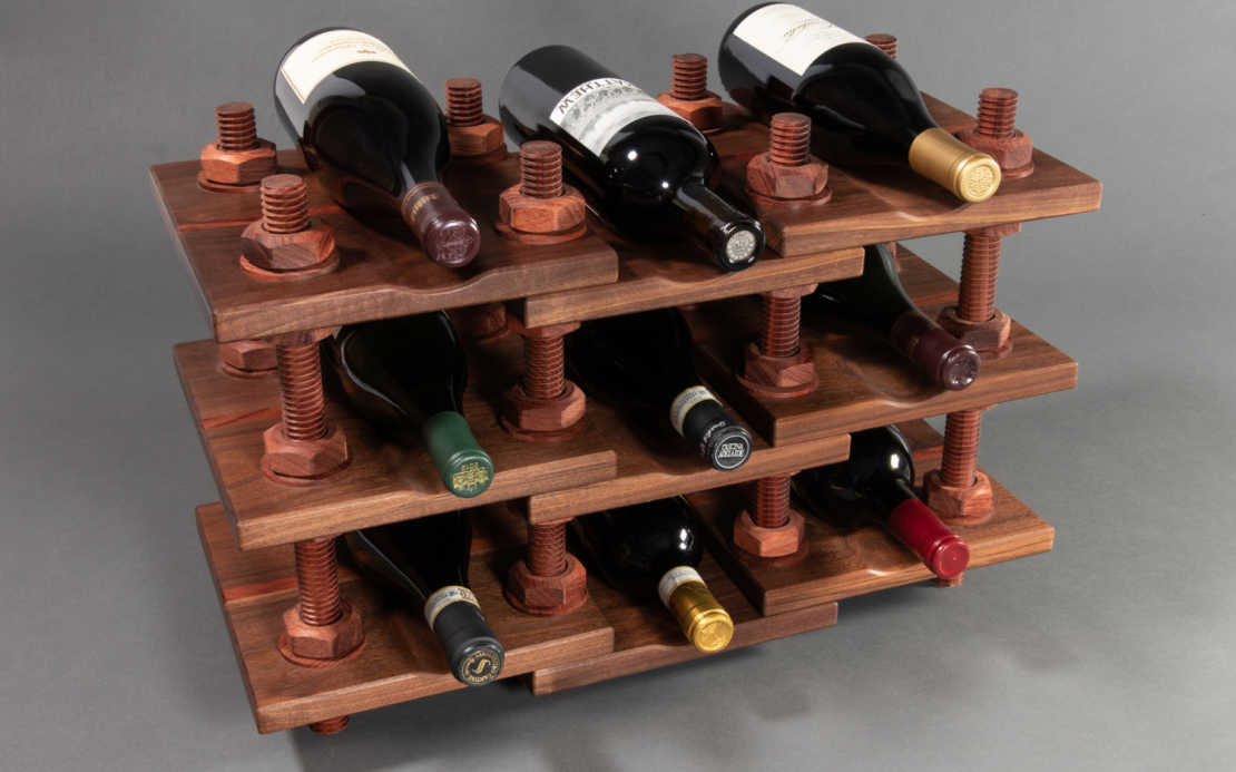 Wood Threads Wine Rack